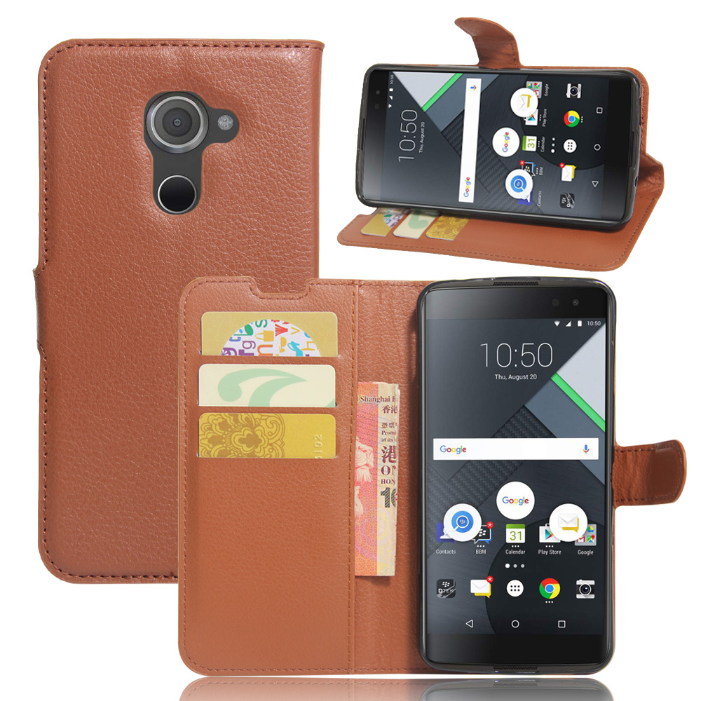 Flip wallet Leather Case for BLACK BERRY DTEK60 case cover with phone stand function and card slots(China (Mainland))