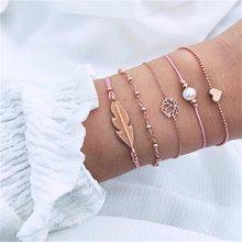 30 w stylu Boho bransoletka słoń serce powłoki gwiazda księżyc łuk mapie bransoletka z kryształkami kobiety Charm Party biżuteria ślubna akcesoria(China)