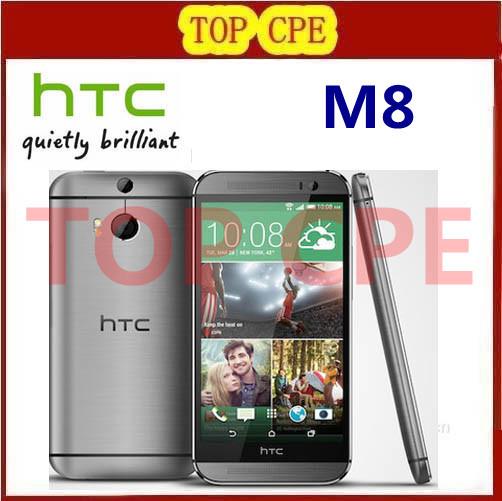M8 Original Unlocked HTC ONE M8 Quad Core Mobile phone 4G LTE Android 4.4 2GB RAM 16GB/32GB ROM 3 Camera Free Shipping(China (Mainland))