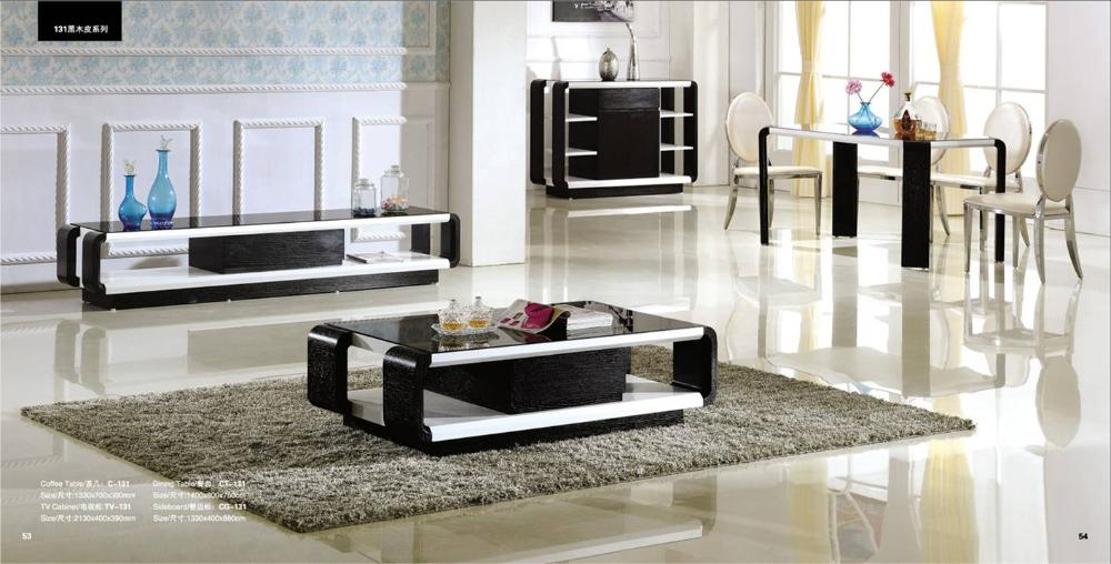 Black wood living room and dinnign room set 4 piece for 7 piece living room set with tv