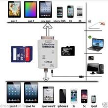 I flash drive tf sd leitor de cartão universal para iphone 4s/5/5s/5c/6 ipad2/3/4/air(China (Mainland))