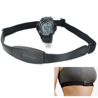 Chest band size 33cm x 3.7cm x 1cm Wireless transfer the heart rate signal  heart rate monitor chest belt  Monitor Digital Watch
