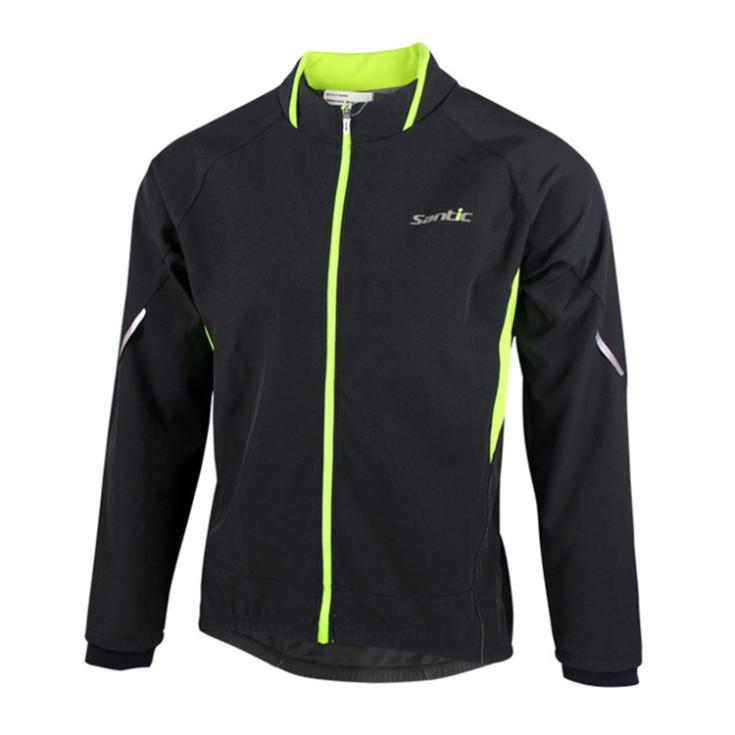 SANTIC New Winter Cycling Jacket Clothing Bike Bicycle Motocross Fitness Windproof Reflective Thermal Casual Coat Jersey<br><br>Aliexpress
