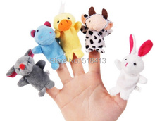 Mini animal hand puppet toy doll theater mouth dynamic means even glove hand puppet plush toy doll(China (Mainland))