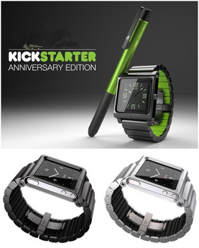 In stock ! Luxury Lynk Clip style Chicago Collection Multi-Touch Metal Aluminum Watch Band Wrist Strap For Apple IPod Nano 6 6th(China (Mainland))