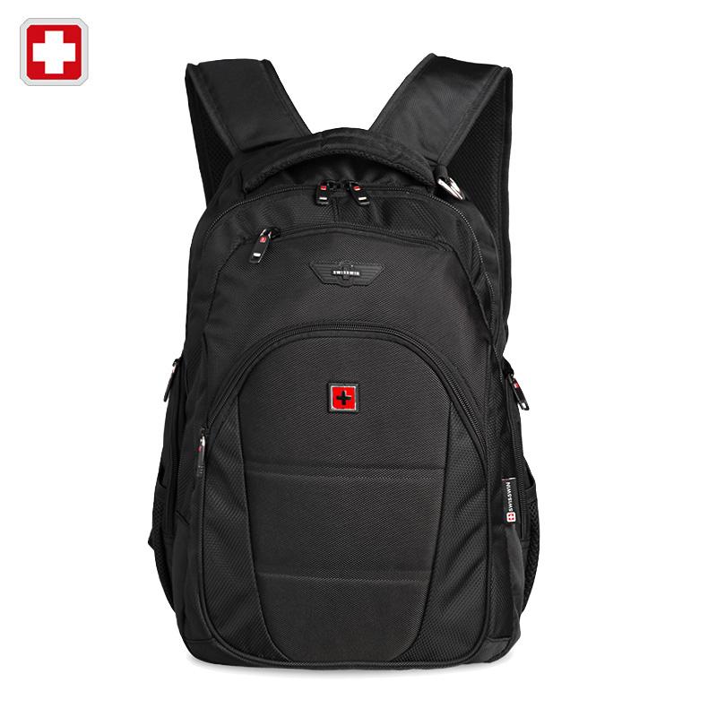Swisswin men backpack mochilas swissgear men's backpacks 12-15.6 Inch black laptop backpacks for teenage boy mochilas hombres(China (Mainland))