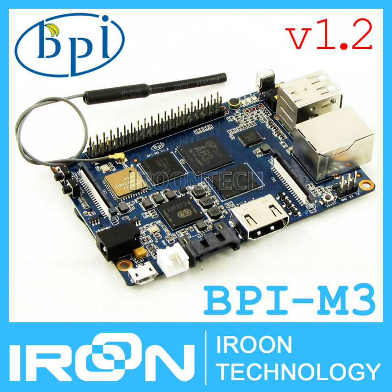 version 1.2: BPI-M3 Banana Pi M3 A83T Octa-Core(8-core)2GB RAM BPI M3 with WiFi&Bluetooth demo board Single Board Computer SBC(China (Mainland))