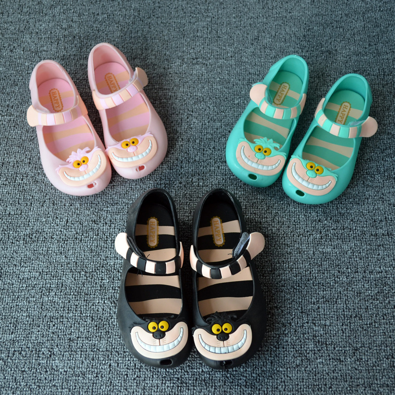 Mini Melissa Alice Girls Sandal Cartoon Kids Girls Beach Shoes Melissa Infantil 2016 Summer Baby/Chirldren Jelly Sandales Filles(China (Mainland))