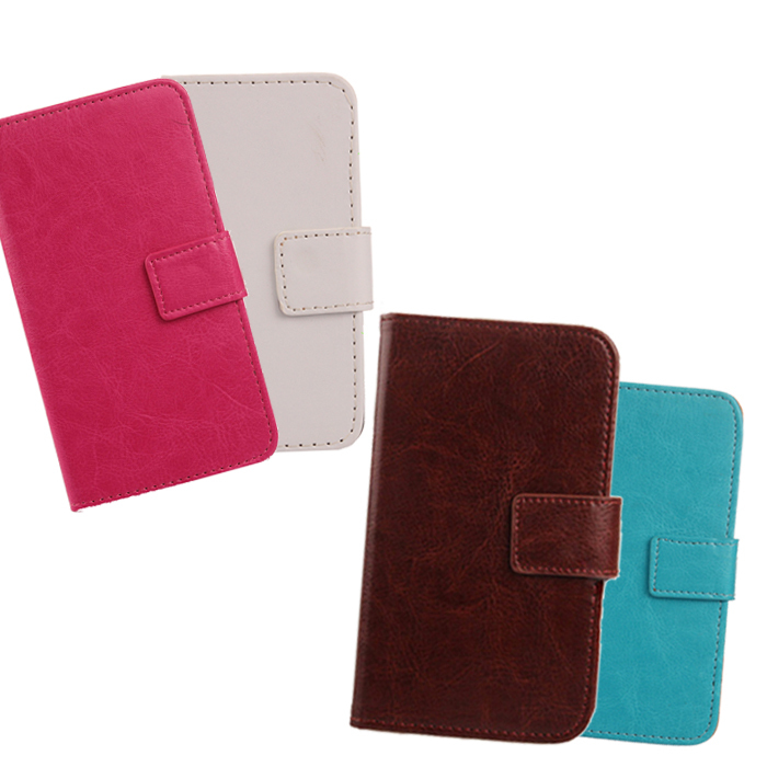 1 pcs PU Leather cover Hybrid Wallet design Protection 6 pure color In stock Cell phone Flip cases for FNAC SMARTPHONE 2 4(China (Mainland))