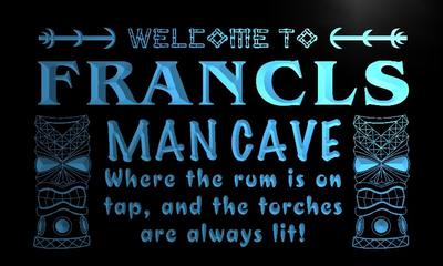x0126-tm Francis Man Cave Tiki Bar Custom Personalized Name Neon Sign Wholesale Dropshipping On/Off Switch 7 Colors DHL(China (Mainland))