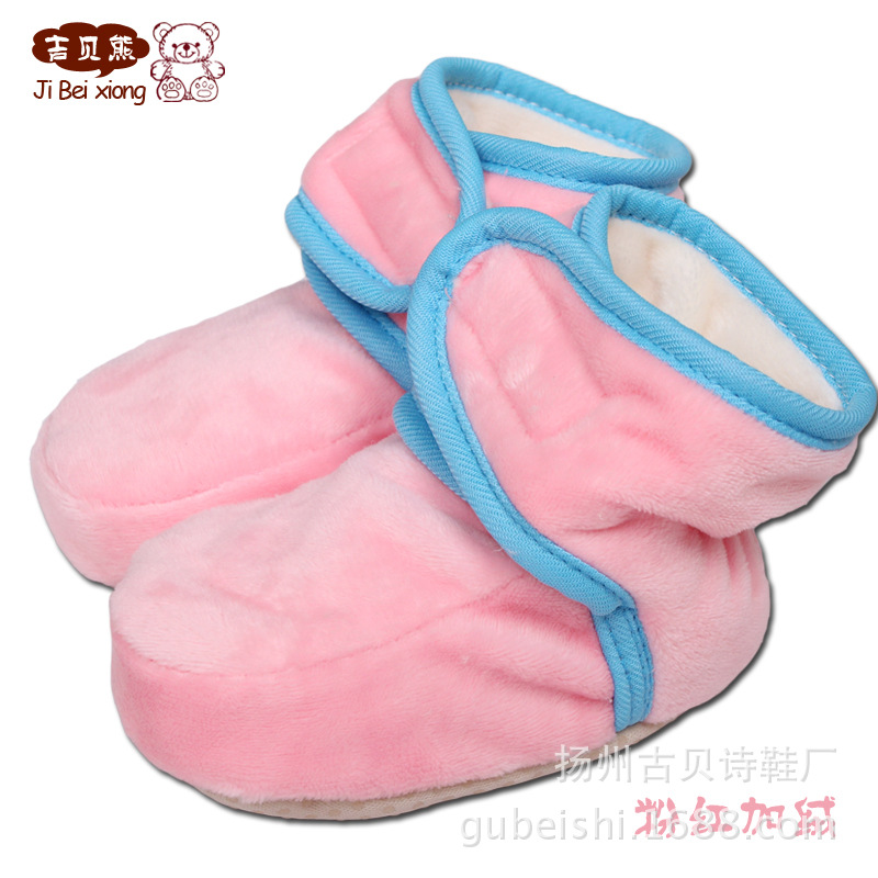 Polar Fleece shoes baby shoes soft spring baby Walker toddler shoes 0-1 years old baby cute soft shoes