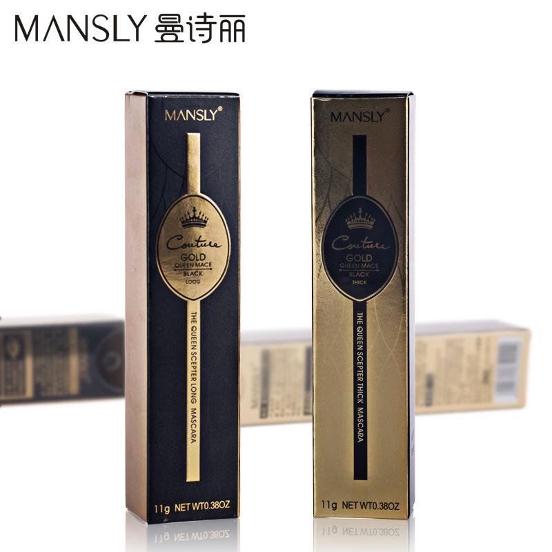 MANSLY Brand eye mascara Makeup Lengthening and  Lasting Thick Enhance Curling black Mascaras Waterproof cosmetic Eye New
