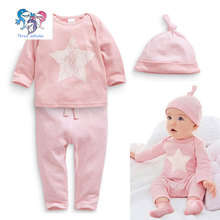2016 Newborn Baby Gift Set Cotton Baby Brand Clothing 3 Pcs Fashion Clothing Infant Girl Clothes Star Baby Boy Outfit