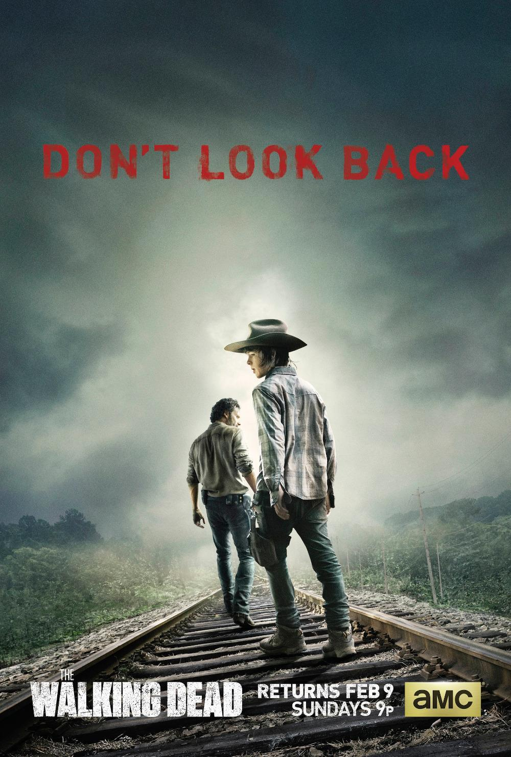 p0443 the walking dead poster rick and carl walk on the. Black Bedroom Furniture Sets. Home Design Ideas