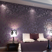 High quality wall paper 3D fashion papel de parede bedroom background wall desktop wall paper rolls White Purple R379(China (Mainland))
