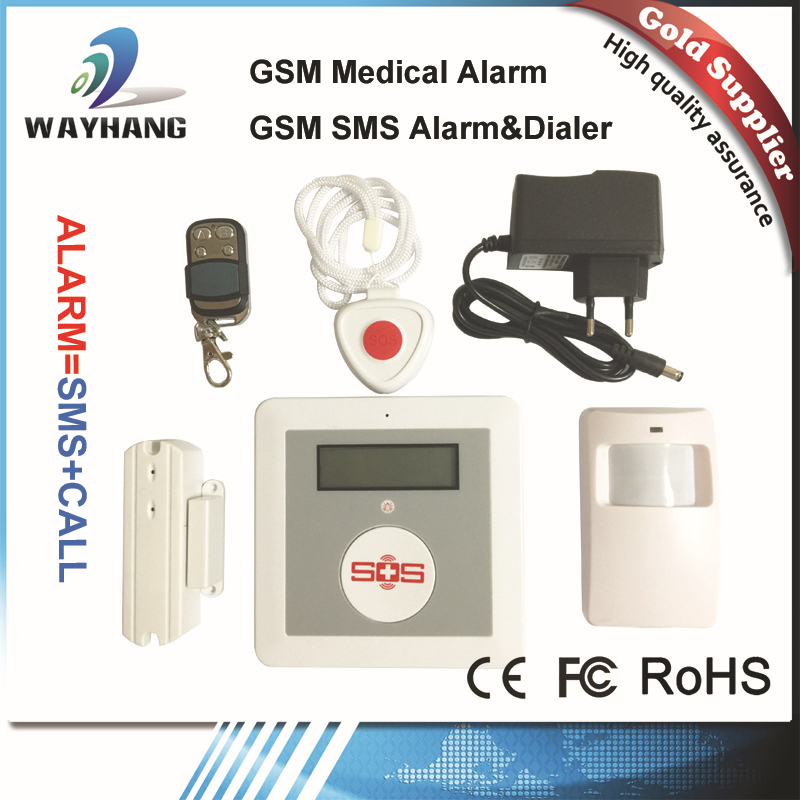 Free Shipping quad band GSM SOS Panic Button Alarm Systems/Panic Alert Systems, Remote Emergency Elderly Help Button(China (Mainland))
