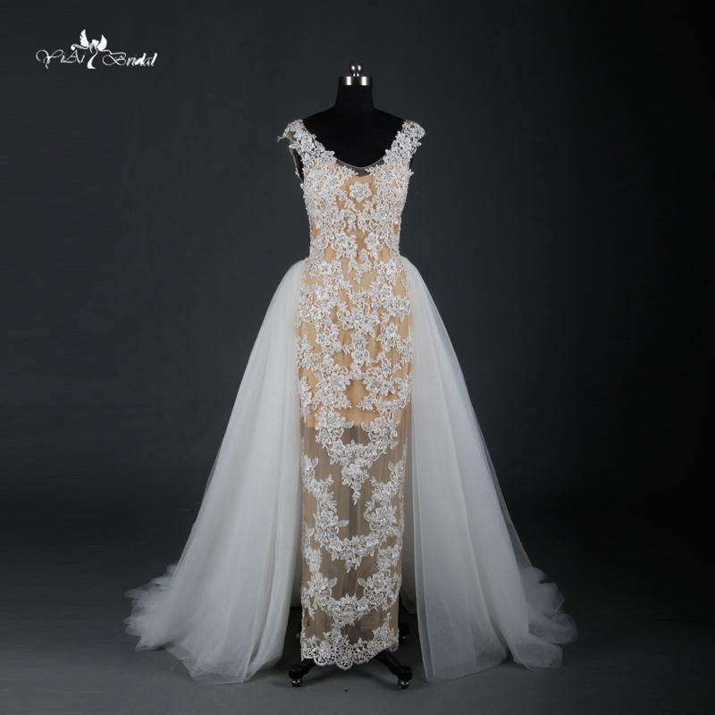 Mermaid Wedding Dress With Detachable Train : Aliexpress buy mermaid wedding dresses gorgeous