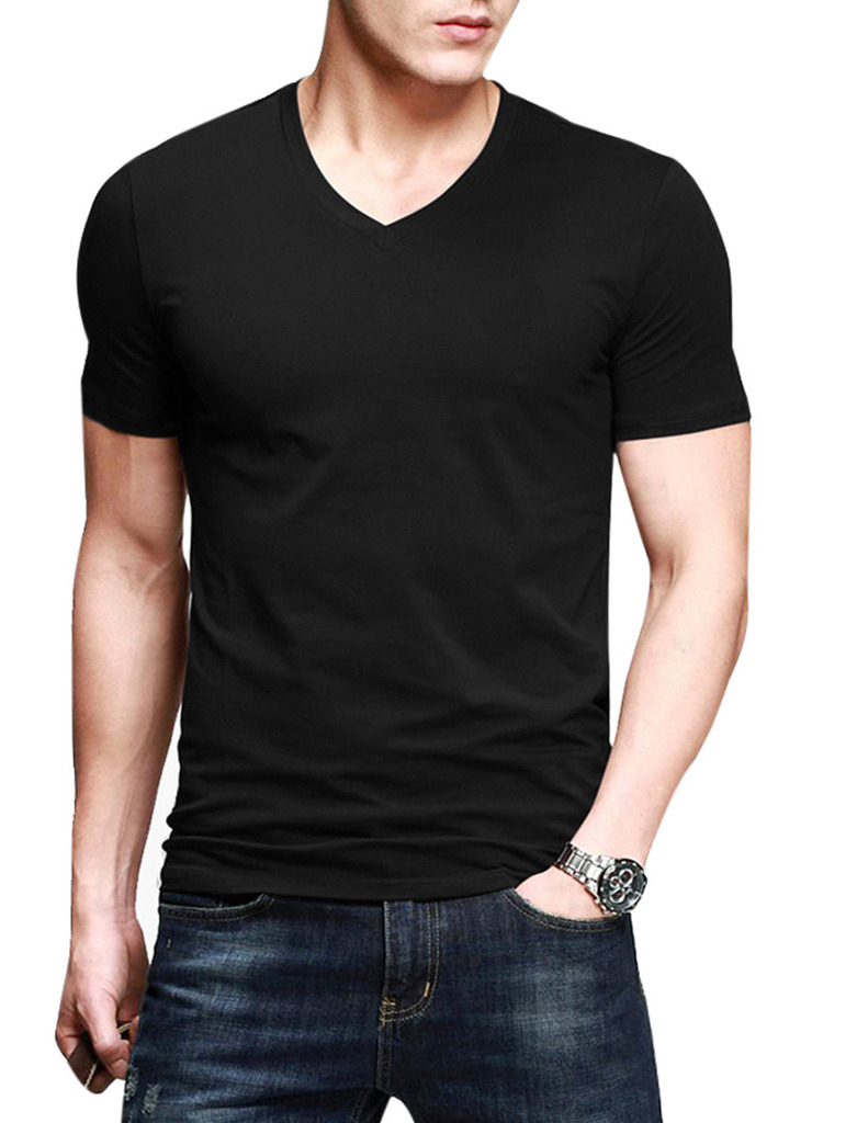 2015 new summer mens fashion chic henley shirts casual slim fit t shirt male tops tee short. Black Bedroom Furniture Sets. Home Design Ideas