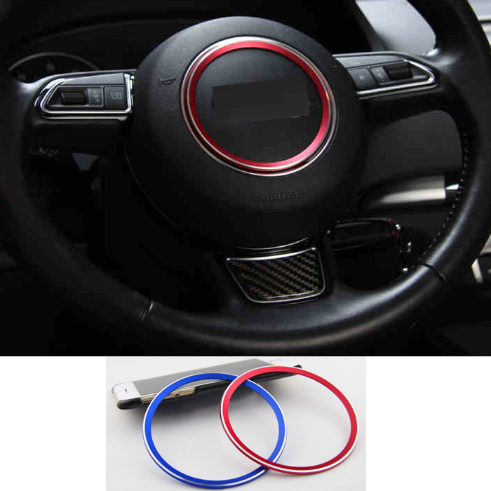 Aluminum car steering wheel sticker car interior decoration for Audi A6 A5 A7 A3 A4 Q3 Q5 S3 S5 S7 TT(China (Mainland))