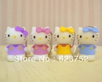 usb 2.0 kitty cat colorful usb flash memory disk with package