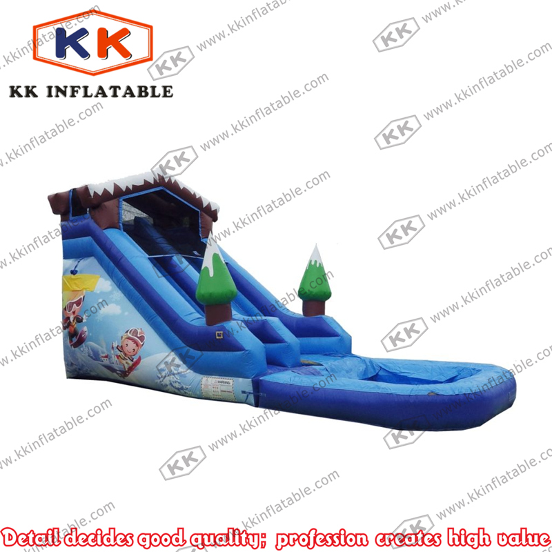 ski slope giant inflatable snow slide for cheap sale pond slide price(China (Mainland))