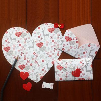 10pcs/lot Creative love Card personality Small Greeting Folding type Card Birthday Card Christmas Gift Card(China (Mainland))