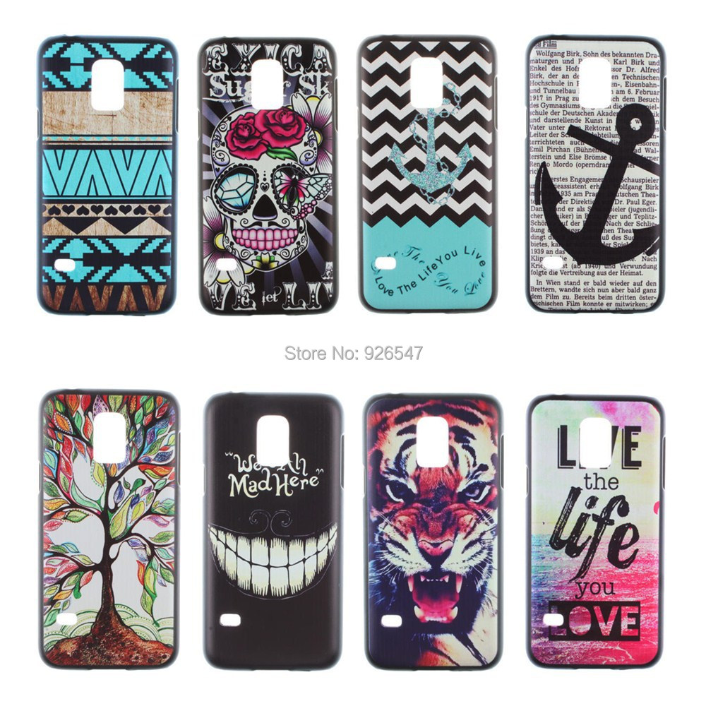 Cartoon 2015 Best Selling Foreign Trade Hard PC Phone Case Printing Embossed PC phone Case Cover for Samsung Galaxy S5 mini G800(China (Mainland))