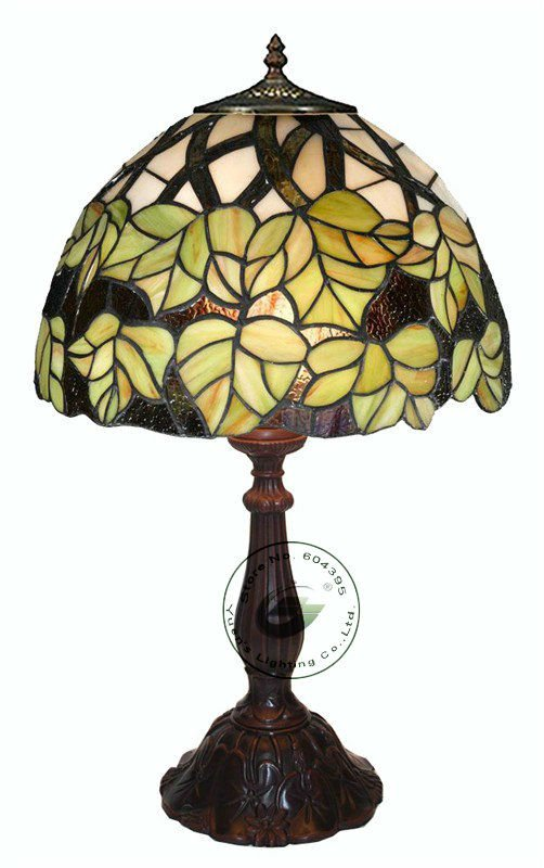 Dia.12 inch Tiffany style Stained Glass Table Lamps,YSL-TD0148,Free Shipping(China (Mainland))