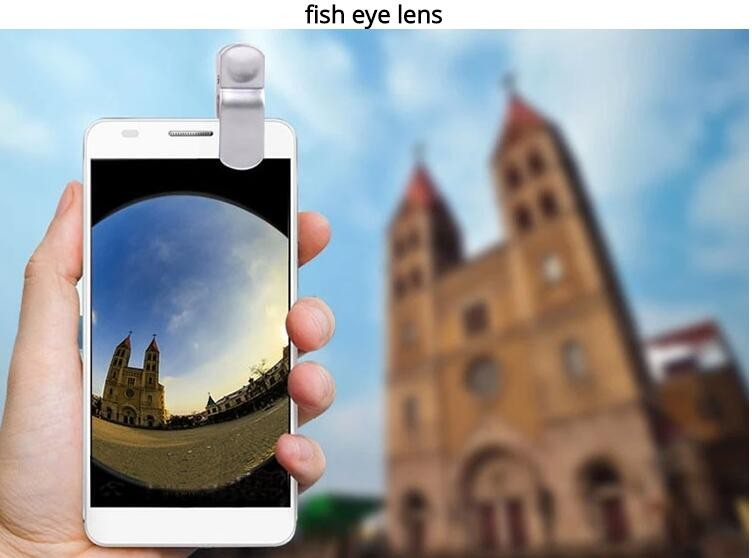 2016 Fish eye universal 3 in 1 mobile phone chip lenses fisheye wide angle macro camera for iphone 6s plus 5s/5  samsung S6 S5