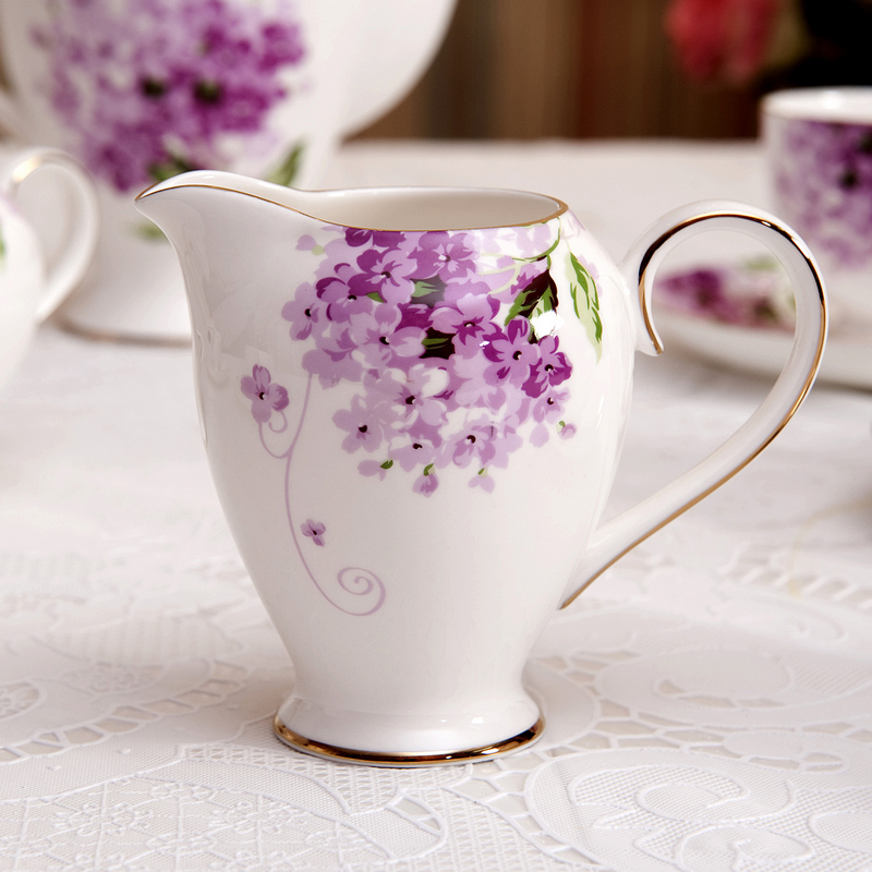 purple coffee cup set,15pcs for 6 people use,free shipping(China (Mainland))