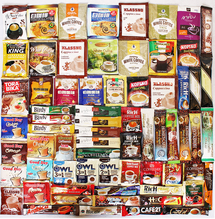 55 different Flavors Instant Coffee from all over the world Hot Hot Sale Global coffee Combination