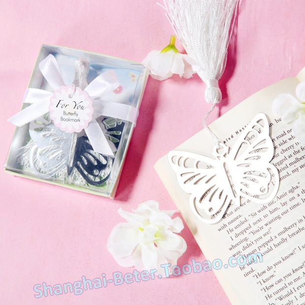 Free Shipping 200box Best Baby Baptism Party Gifts BETER-WJ048 Butterfly Bookmark back to school giveaways(China (Mainland))