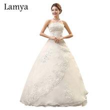 Buy Lamya Real Photo Customized Princess Lace Wedding Dress 2017 Vintage Plus Size Wedding Dresses Bridal Gowns vestido de noiva for $43.19 in AliExpress store