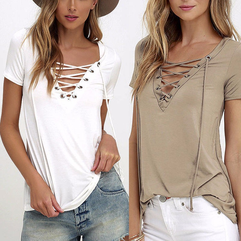 Hollow-out-Strappy-Front-Women-Autumn-Plus-Size-Lace-Up-Causal-Short-Sleeve-Shirt-Women-Blouses (2)