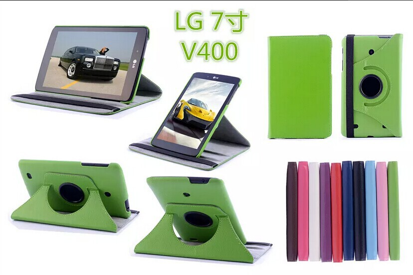 10PCS High quality Crazy Horse Pattern Leather Stand Case For LG G Pad 7.0 V400 ,<br><br>Aliexpress