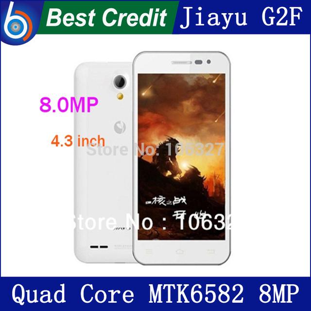 "Jiayu G2F 3G MTK6582/MTK6582M Quad Core 1.3Ghz 4.3"" Screen 1G RAM 8G ROM 8MP Camera Gorilla Glass JIAYU Cell phone JIAYU F2 /Eva"