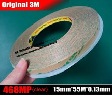 Buy  (15mm*55M*5.2 mils thick), 3M Transparent High Performance Adhesive Transfer Tape Adhesive 200MP 468MP Foam Graphic for $14.37 in AliExpress store