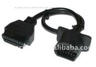 Wholesale price +newest version 2013 for toyota 17pin male to16pin female obd2 diagnostic too(China (Mainland))