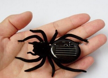 High quality Mini Solar Powered Spider Robot Insect Toy Fun Gift 50pcs(China (Mainland))