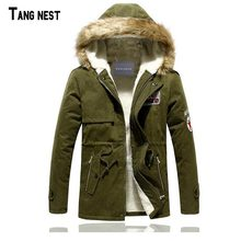 TANGNEST Male Coat Hooded 2017 Men's Warm Korean Style Padded Jacket Male Hooded Casual Winter&Autumn Coats M-3XL MWM495(China (Mainland))