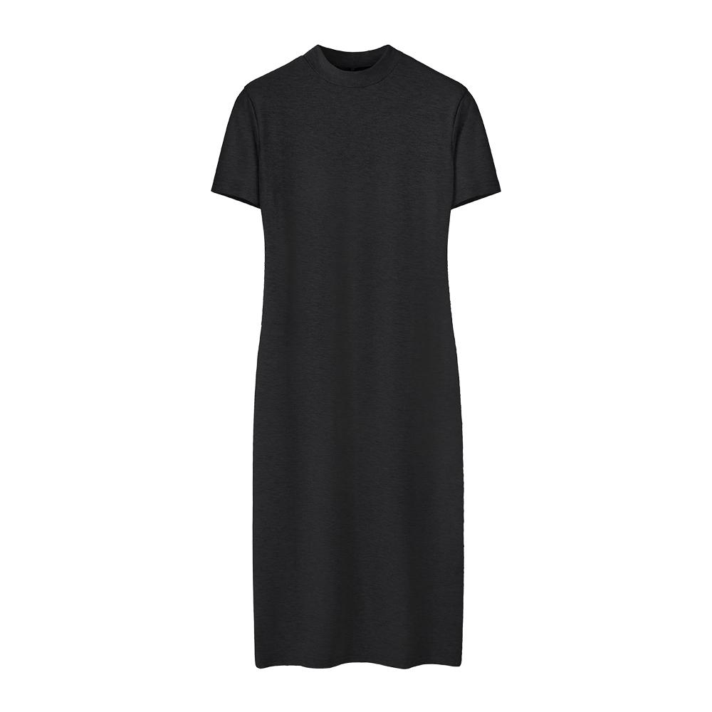 2016 new summer dress girls long short sleeved T-shirt slim dress head split bag hip dress(China (Mainland))