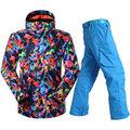 Gsou Snow Authentic Men Ski Suit Ski Jacket Ski Pants Snowboard Jacket Double Plate Warm Waterproof