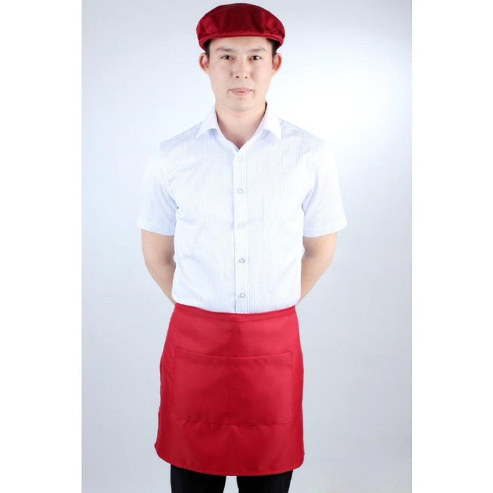 Red Professional waist apron