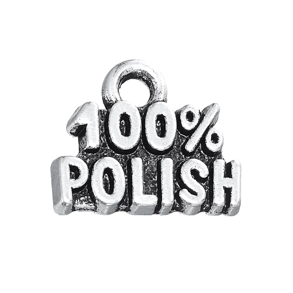 100% POLISH/ ITALIAN/GERMAN Statement Charm Antique Silver Plated DIY Necklace&Bracelet 15pcs(China (Mainland))