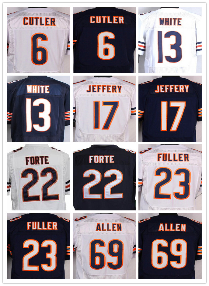 13 Kevin White 17 Alshon Jeffery 23 Kyle Fuller 34 Walter Payton 89 Mike Ditka(China (Mainland))