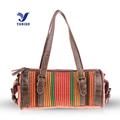 YUBIRD Brand New Casual Women Handbag Crossbody Shoulder Linen Fabric Boston Bag Lady Vintage Weave Patchwork