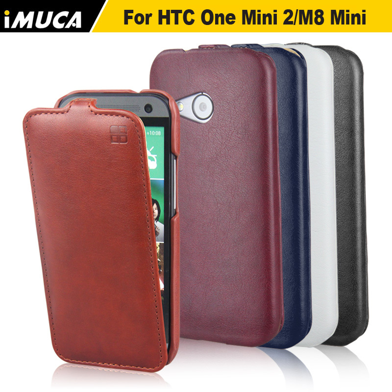iMUCA Vertical Flip Leather Case For HTC One M8 mini HTC One Mini 2 Mobile Phone Bags & Cases Accessories(China (Mainland))