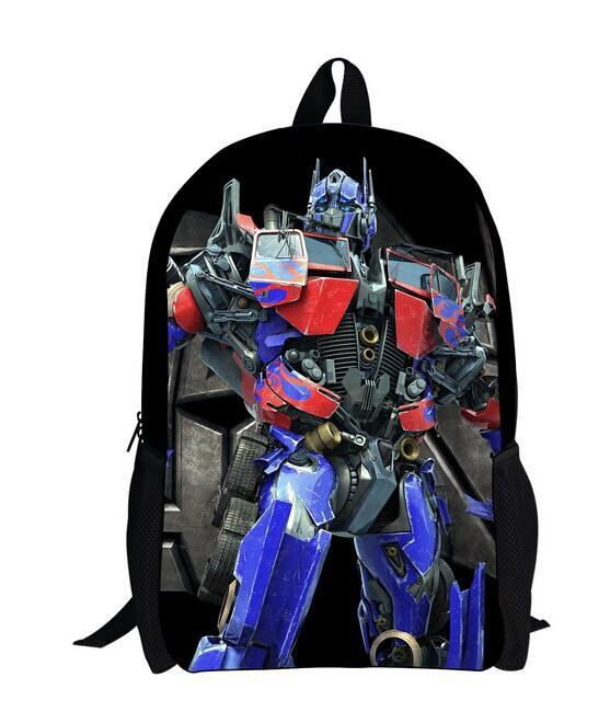2014 supreme transformer backpack for boys fashion cartoon print backpack for kids cute children's school knapsack child student(China (Mainland))