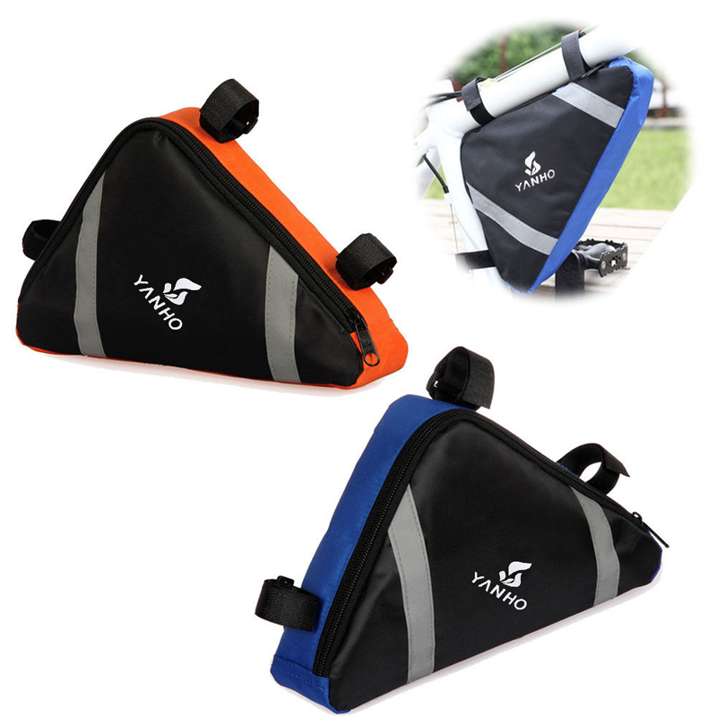1pc 29*22*6cm Cycling Bike Bycicle Bags Frame Pack Pannier Front Tube Triangle Bag Pouch 4Colors Available EA14(China (Mainland))