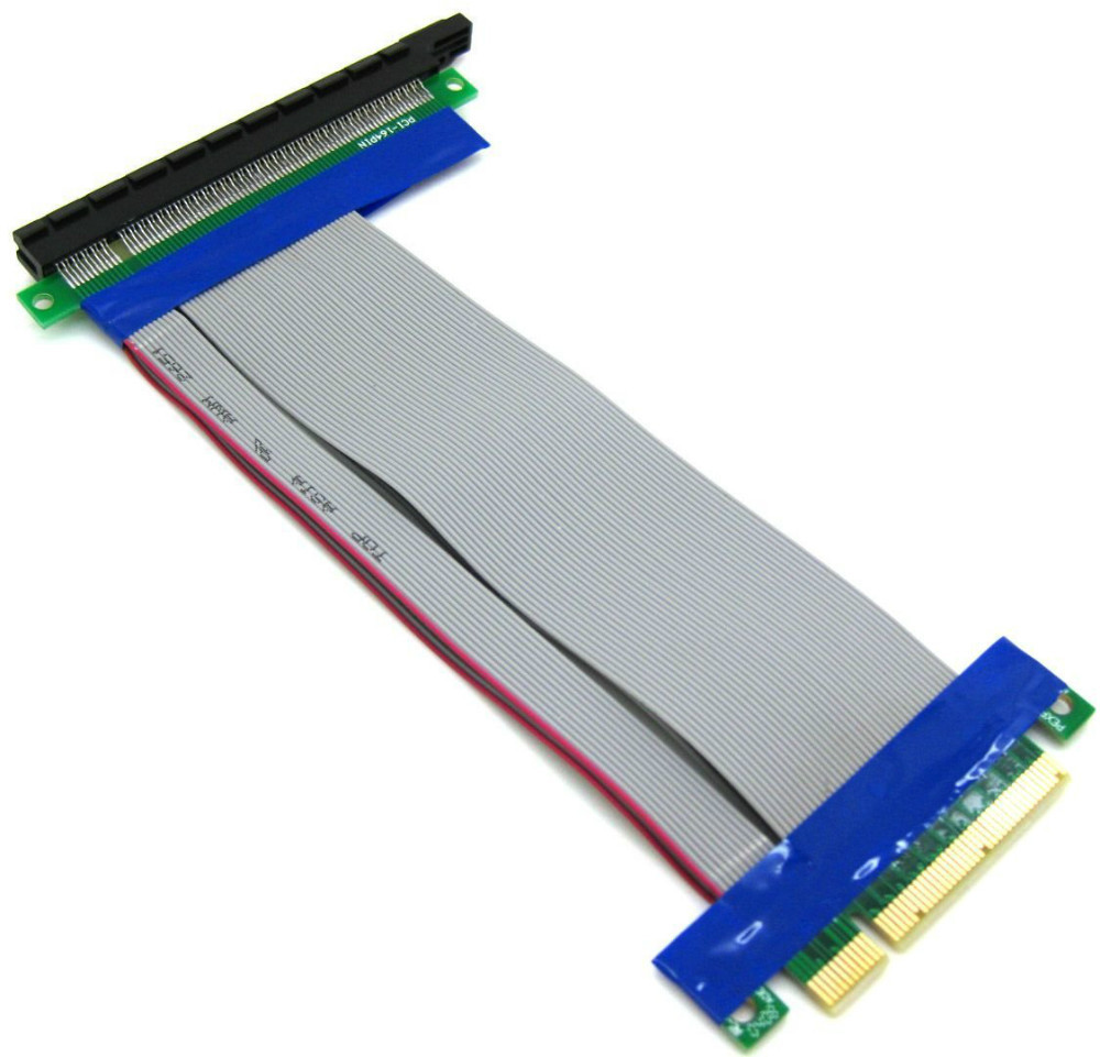 PCI Express PCIE 8X Male to PCI-E 16X Female Riser Cable Free Shipping(China (Mainland))